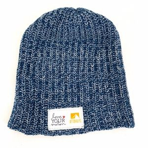 Love your Melon Afton Alps Blue Beanie Hat Winter